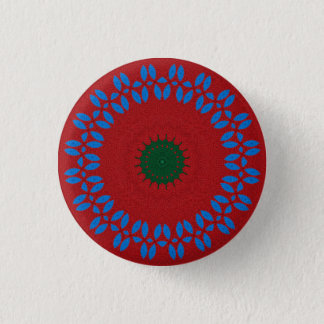 Kaleidoscope Mandala in Slovenia: Pattern 213.5 1 Inch Round Button