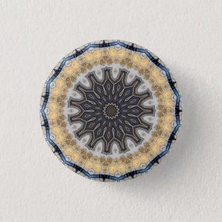 Kaleidoscope Mandala in Vienna: Pattern 220.10 1 Inch Round Button