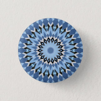 Kaleidoscope Mandala in Vienna: Pattern 220.1 1 Inch Round Button