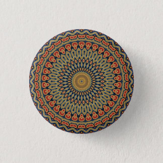 Kaleidoscope Mandala in Vienna: Pattern 220.6 1 Inch Round Button
