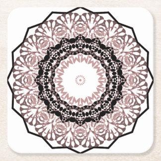 Kaleidoscope , mandala square paper coaster
