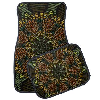 Kaleidoscope mosaic tile car mat