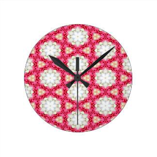 Kaleidoscope mosaic wallclock
