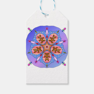 Kaleidoscope of bears and bees pack of gift tags