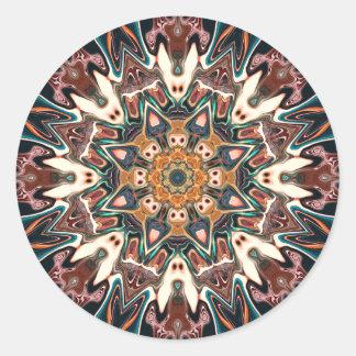 Kaleidoscope of Colors Classic Round Sticker
