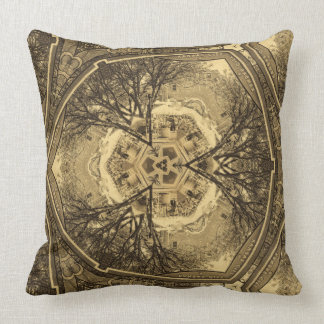 Kaleidoscope of Kansas City Farmer's Market Throw Pillow