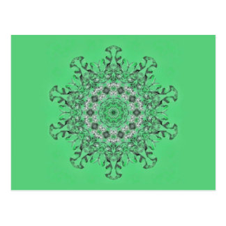 Kaleidoscope of mint green icicles postcard