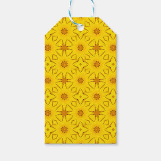 Kaleidoscope of Sunflowers, Bright Yellow Gift Tags