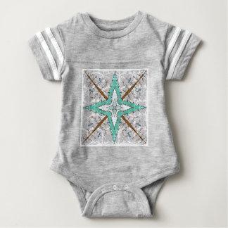 Kaleidoscope of winter trees baby bodysuit