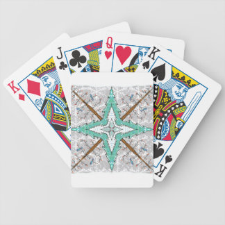 Kaleidoscope of winter trees bicycle playing cards