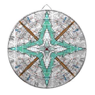 Kaleidoscope of winter trees dartboard