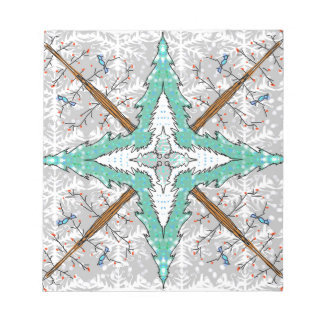 Kaleidoscope of winter trees notepad