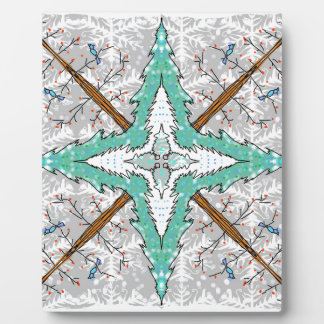 Kaleidoscope of winter trees plaque