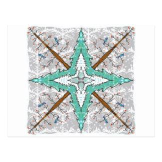 Kaleidoscope of winter trees postcard