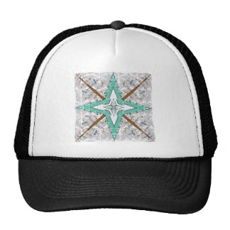 Kaleidoscope of winter trees trucker hat