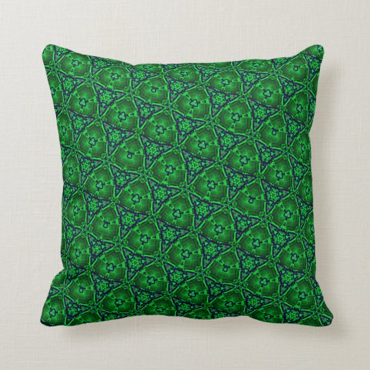 Kaleidoscope pattern 3b throw pillow