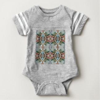 kaleidoscope pattern baby bodysuit