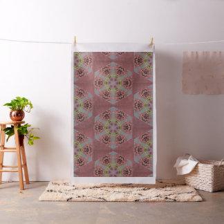 kaleidoscope pattern, pink and yellow roses fabric
