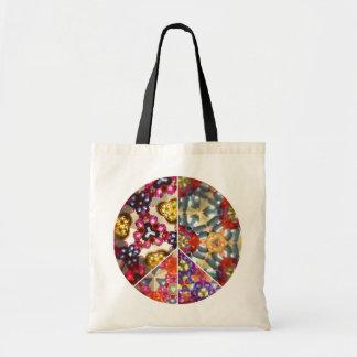 Kaleidoscope Peace Sign Tote Bag