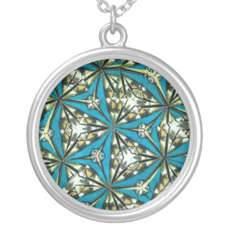 Kaleidoscope Pendant Necklace in Blues