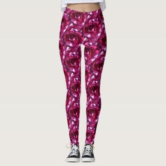 Kaleidoscope Pink Rose Leggings 2