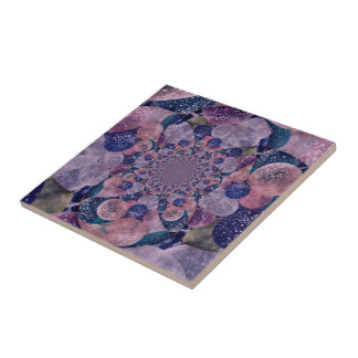 Kaleidoscope Purple And Pink Balloons Tile