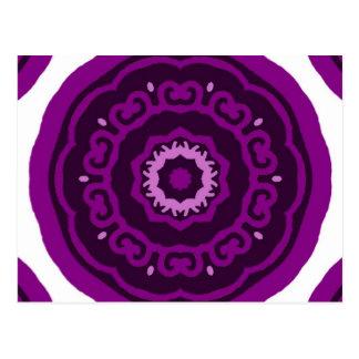Kaleidoscope purple postcard