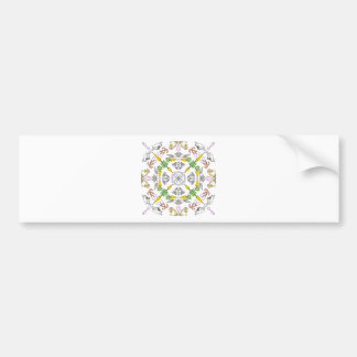 Kaleidoscope rabbits bumper sticker
