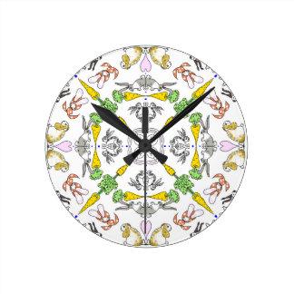 Kaleidoscope rabbits clock