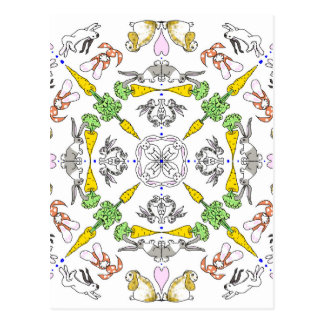 Kaleidoscope rabbits postcard