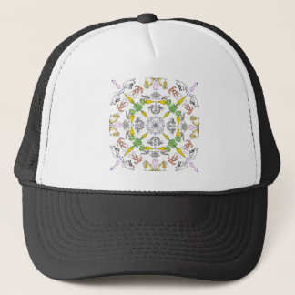 Kaleidoscope rabbits trucker hat