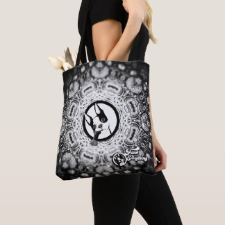 Kaleidoscope Rex Bag in Black and white