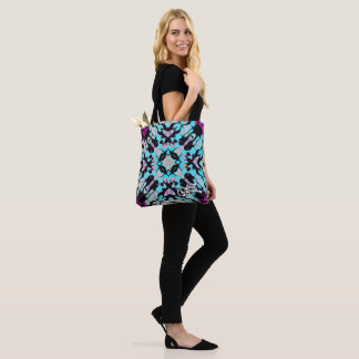 Kaleidoscope Rex Bag in shades of purple and blue.