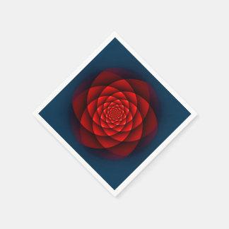 Kaleidoscope ROSE red Napkin