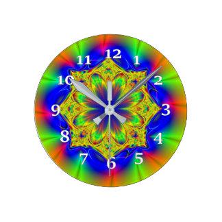 Kaleidoscope Round Clock