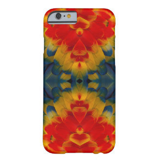 Kaleidoscope Scarlet Macaw design Barely There iPhone 6 Case