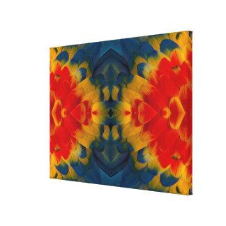Kaleidoscope Scarlet Macaw design Canvas Print