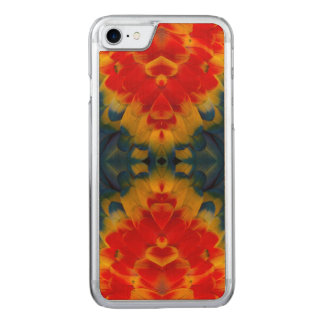 Kaleidoscope Scarlet Macaw design Carved iPhone 7 Case
