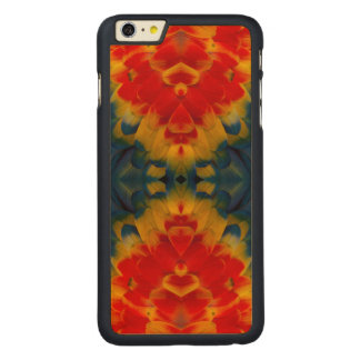 Kaleidoscope Scarlet Macaw design Carved® Maple iPhone 6 Plus Case
