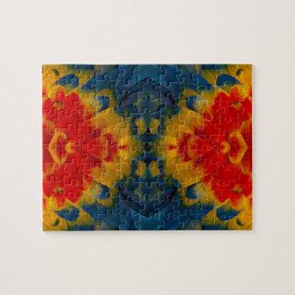 Kaleidoscope Scarlet Macaw design Jigsaw Puzzle