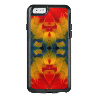 Kaleidoscope Scarlet Macaw design OtterBox iPhone 6/6s Case