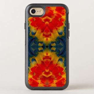 Kaleidoscope Scarlet Macaw design OtterBox Symmetry iPhone 7 Case