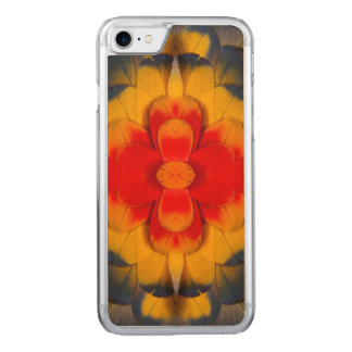 Kaleidoscope Scarlet Macaw feather Carved iPhone 8/7 Case
