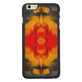 Kaleidoscope Scarlet Macaw feather Carved® Maple iPhone 6 Plus Case