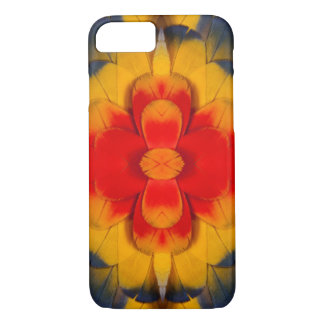 Kaleidoscope Scarlet Macaw feather iPhone 7 Case