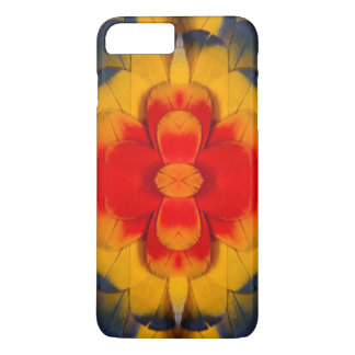 Kaleidoscope Scarlet Macaw feather iPhone 8 Plus/7 Plus Case