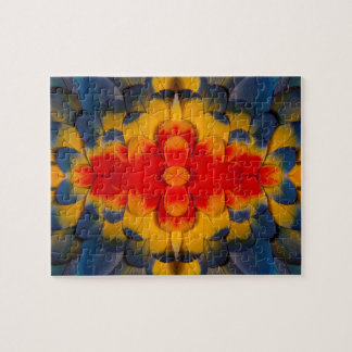 Kaleidoscope Scarlet Macaw feather Puzzle