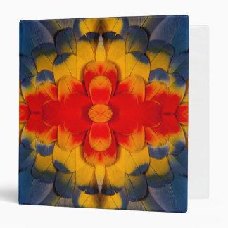 Kaleidoscope Scarlet Macaw feather Vinyl Binders