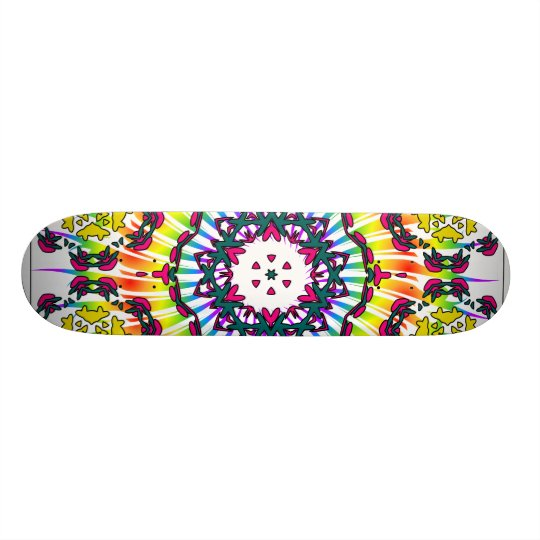 Kaleidoscope & Spiral Design: Custom Skateboard