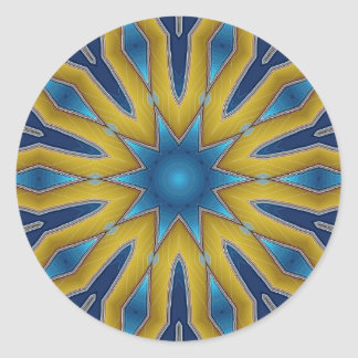 Kaleidoscope Star Classic Round Sticker